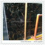 Black Portor with Golden Marble Tiles for Flooring