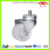 White Nylon Twin Wheel Caster (L190-20B050X30)