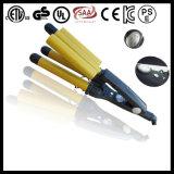 Gold Ceramic Paint Triple Barrels Hair Curler (A10)