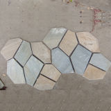 Mesh Back Flagstone Outdoor Slate Stepping Stones (SMC-Y056)