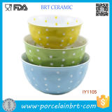 Vivid Colorful and Different Size Ceramic Mixing Bowl