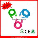 Colorful USB Flat Noodle USB Data Cable for iPhone4 (NM-USB-219)