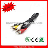 DC 3.5mm Jack to 3RCA Connector Cable