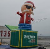 Outdoor Inflatable Santa Claus with Gift Box C1043