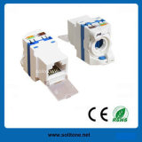 Unshielded CAT6 Keystone Jack, 180 Degrees, New Style