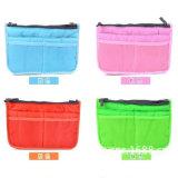 2018 Korean Double Zipper Cotton Bag in Bag Bag Multifunctional Cosmetic Bag (GB#200)