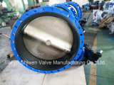 API/DIN/JIS Qt450 Ductile Iron Flange Butterfly Valve with Gearbox Actuator