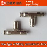 """New Type 1/4"""" 0.635cm T Type Connector, Tee Connector:"""