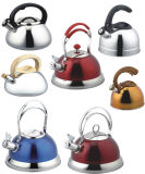 Stainless Steel Whistling Kettle with Color (WK543)