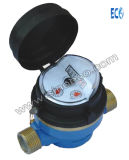 Single Jet Wet Dry Water Meter with 45 Degree Register