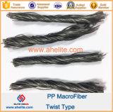 Concrete Fiber Reinforcement Polypropylene Twist Fiber Macrofiber 54mm