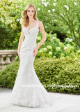 V-Neck Lace Wedding Dress 2018 New Beaded Mermaid Bridal Dresses T92429