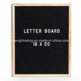 Letter Board Black Felt 16 X 20 Inch Oak Frame