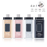 OTG Pen Drive 4in1 Metal USB Flash Drive for Ios/Android/Tablet PC/Type C Micro USB Stick Flash Drive