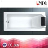 K-1219 1500/1600/1700mm Square Bathtub, Drop in White Color Acrylic Bathtub, Simple Design Bath Tub in Hotel
