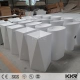 Acrylic Stone Solid Surface Pure White Washing Basin for Hotel