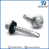 Hex Flange Stainless 410 Self Drilling Screw with Rubber Washer