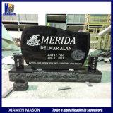 American Style Cemetery Shanxi Black Granite Headstone