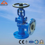 DIN Angle Type Bellow Seal Globe Valve (GAWJ44H)