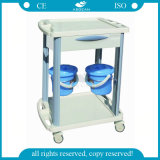 AG-CT001b3 with Two Buckets ABS Hospital Therapy Trolley