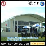 Outdoor Aluminium Arch Shape Glass Wall Extend Tent