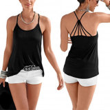 Fashion Women Leisure Slim Casual Backless Vest Clothes Blouse