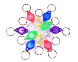 12 Body Color Customize Hook Keychain Micro LED Light Torch Light Support OEM