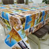 Polyester Fabric Backing Tablecloth Waterproof Oilproof PVC Fabric Table Cloth