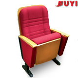 China Supplier Fire Proof Fabric Cover Steel Legs Upgrade Lecture Audience Collapsible Backrest Auditorium Chair