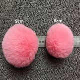 Cute Soft Rabbit Fur Ball Fluffy Pompom Key Chain Ring