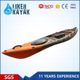 Cheap Single Seat Sit on Top Fishing Kayak 4.3m Add Motor Available