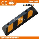Black & Yellow Rubber Reflective Wheel Stopper (DH-PB-4)