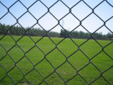 Twisted Electro Galvanized Then Pcv Coated Chain Link Fence for Stadium