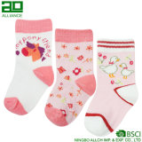 Wholesale Cute Baby Pink Knitted Cotton Custom Baby Socks