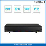 H. 264 8CH 720p/1080P Poe NVR with P2p
