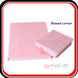 A5 Pink Leather Custom Notebook Printing with Sheetmarker