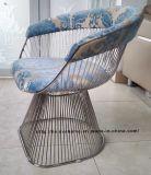Leisure Dining Restaurant Cushion Outdoor Metal Steel Wire Chair