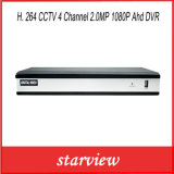 H. 264 CCTV 4 Channel 2.0MP 1080P Ahd DVR