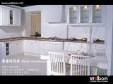 Family Use White Custom Wood Kitchen Furniture