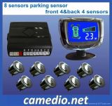 Car Front and Rear LCD Parking Sensor with 4/ 8 Sensors