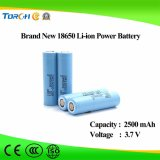 Rechargeable Lithium 3.7V 2500mAh Li-ion 18650 Battery for LED Lights