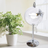 Modern Soap Bubble Table Lamps Round Clear Glass Table Lightings for Home Bedroom Use Reading Lights
