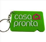 Professional Manufacturer Green Color Soft PVC Key Chain (KC-03)