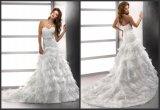 Lace Organza Wedding Gown Sweetheart Bridal Wedding Dresses (A142)