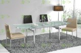 (ST-027B) Home Furniture Multi Function Tempered Glass Dining Table