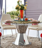 Modern Style Stainless Frame Polishing Dining Table