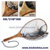 High Quality Burl Wood Handle Landing Net