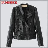 Black PU Jacket for Women Winter Outer Wear