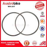 Bike Clincher Tubular 20mm Super Light Carbon Tubular 46mm Road Rim