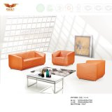 Modern Design Office Leather Sofa Covered with Metal Leg (HY-F1008)